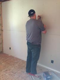 Marking hanging drywall